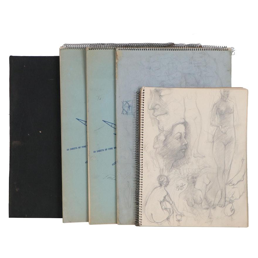 John Tuska Sketchbooks of Figure Studies, 20th Century