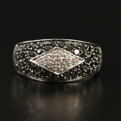 10K Pavé Diamond Dome Ring