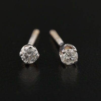 14K 0.22 CTW Diamond Solitaire Earrings