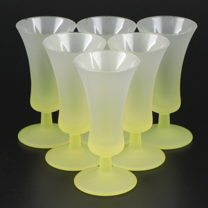 Blendo Frosted Glass Cordials, Mid to Late 20th Century