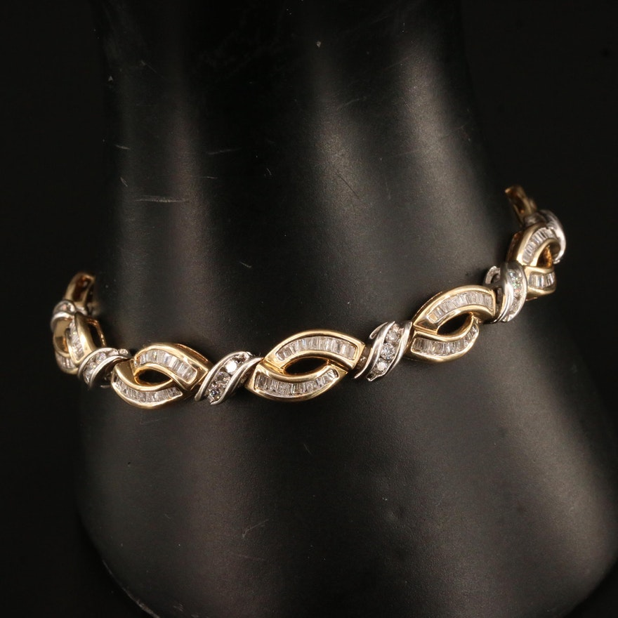10K 3.10 CTW Diamond Bracelet