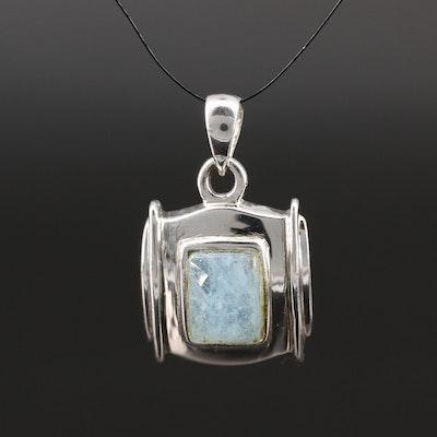 Sterling Silver Beryl Pendant