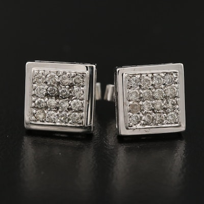 14K Diamond Cluster Earrings