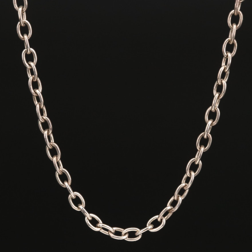 Sterling Silver Cable Necklace