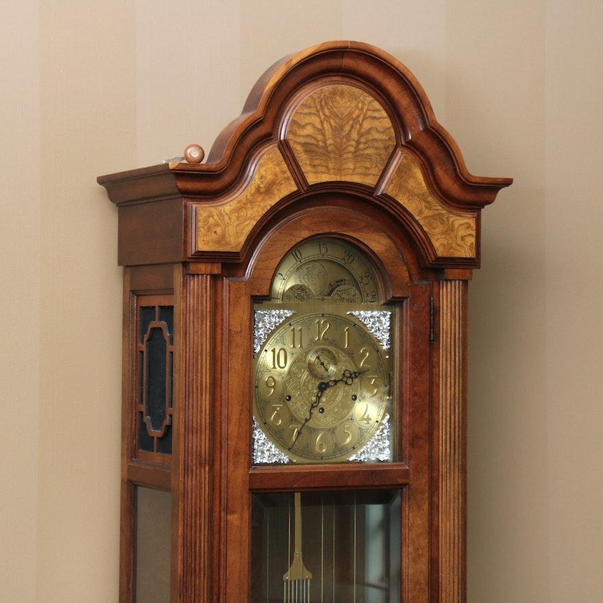 Howard Miller Westminster Chime Oak & Burl Grandfather Clock