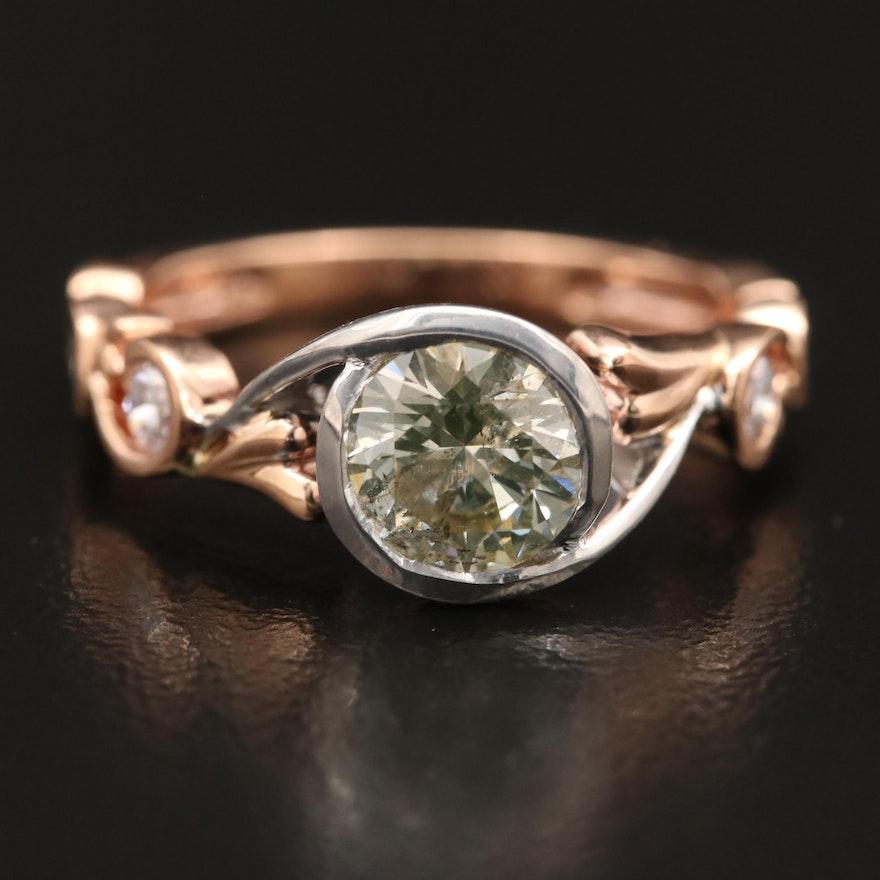 Hana 18K Rose Gold 1.27 CTW Diamond Ring