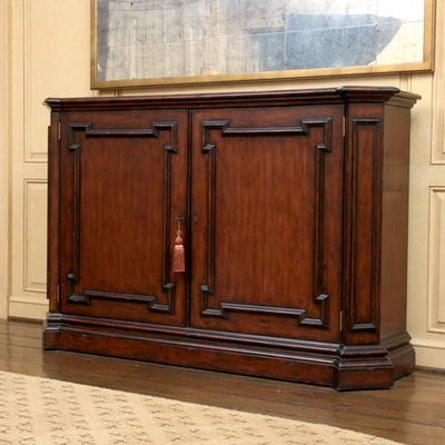 Neoclassical Style Mahogany-Stained Cabinet