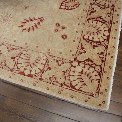 8'10 x 12' Hand-Knotted Indo-Persian Room-Size Rug