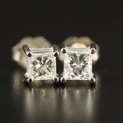 Platinum 1.03 CTW Diamond Stud Earrings