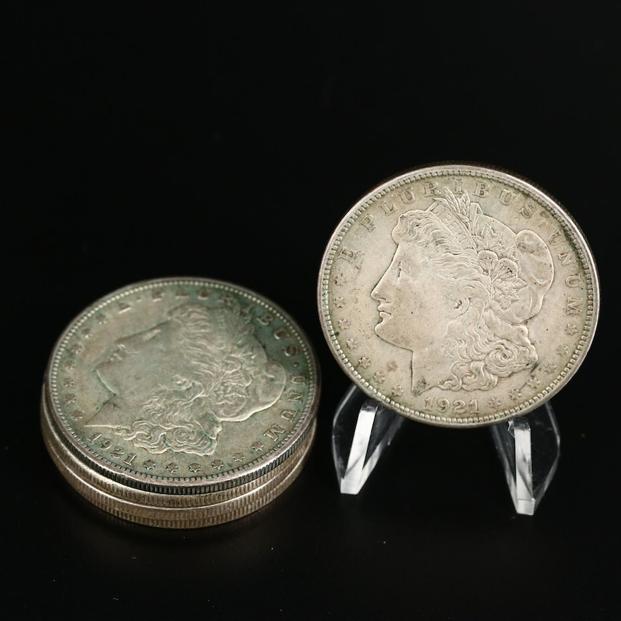 1921 Morgan Silver Dollars