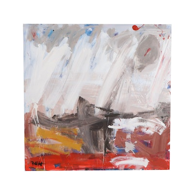 Robbie Kemper Abstract Expressionist Style Acrylic Painting