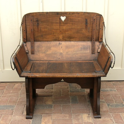 Circa 1900 Hand-Crafted Buckboard Buggy Seat Bench