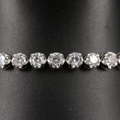 Platinum 7.69 CTW Diamond Tennis Bracelet