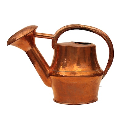 French Hand-Forged Copper Over Brass Water Can, 19th Century