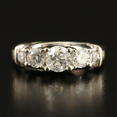 14K 1.66 CTW Diamond Ring with Trellis Setting