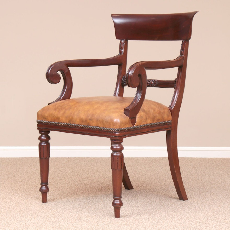 Federal Style Mahogany-Stained Armchair