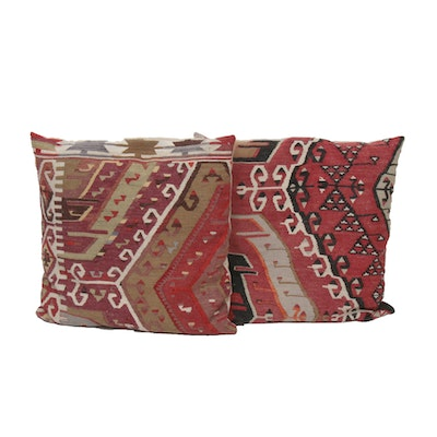 Handwoven Turkish Kilim Throw Pillows
