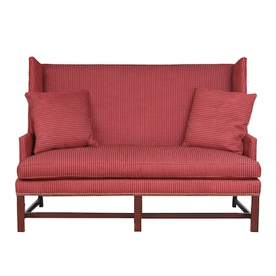 Hickory Chair Co. Stud Fastened High-Back Salon Sofa, Late 20th Century