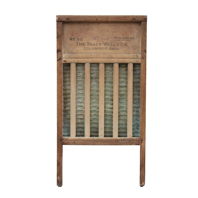 The Tracy Wells Co. Washboard, Early 20th Century