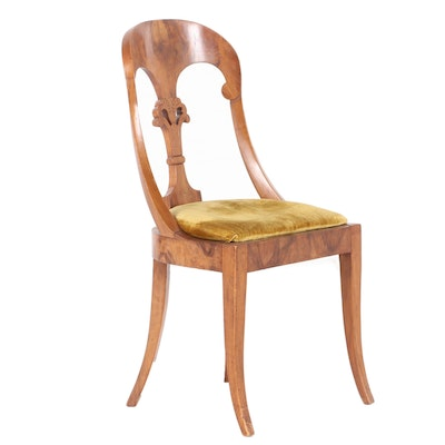Italian Walnut Side Chair, 20th Century