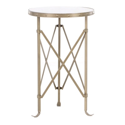 Louis XVI Style Metal Side Table