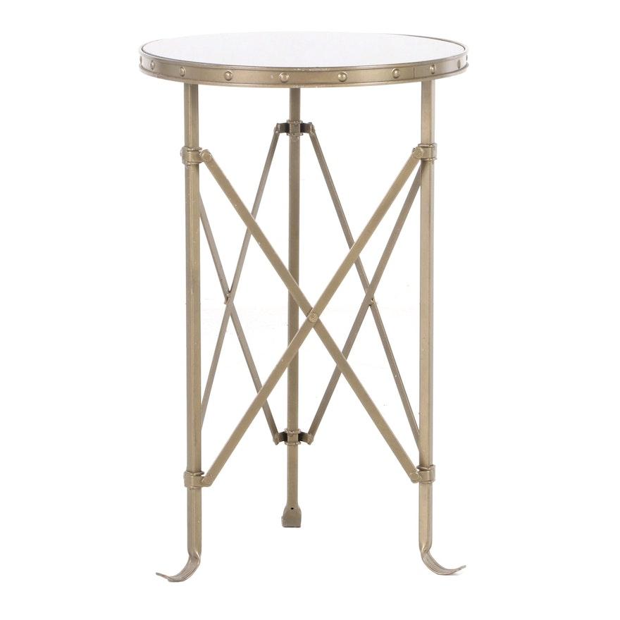 Louis XVI Style Metal Side Table