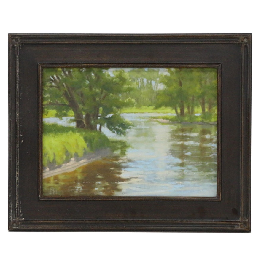 "Joe Stewart Oil Painting ""Saranak River"", 2018"