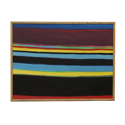 Jerald Mironov Linear Abstract Oil Painting