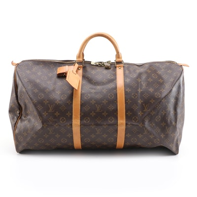Louis Vuitton Keepall 60 Travel Bag in Monogram Canvas