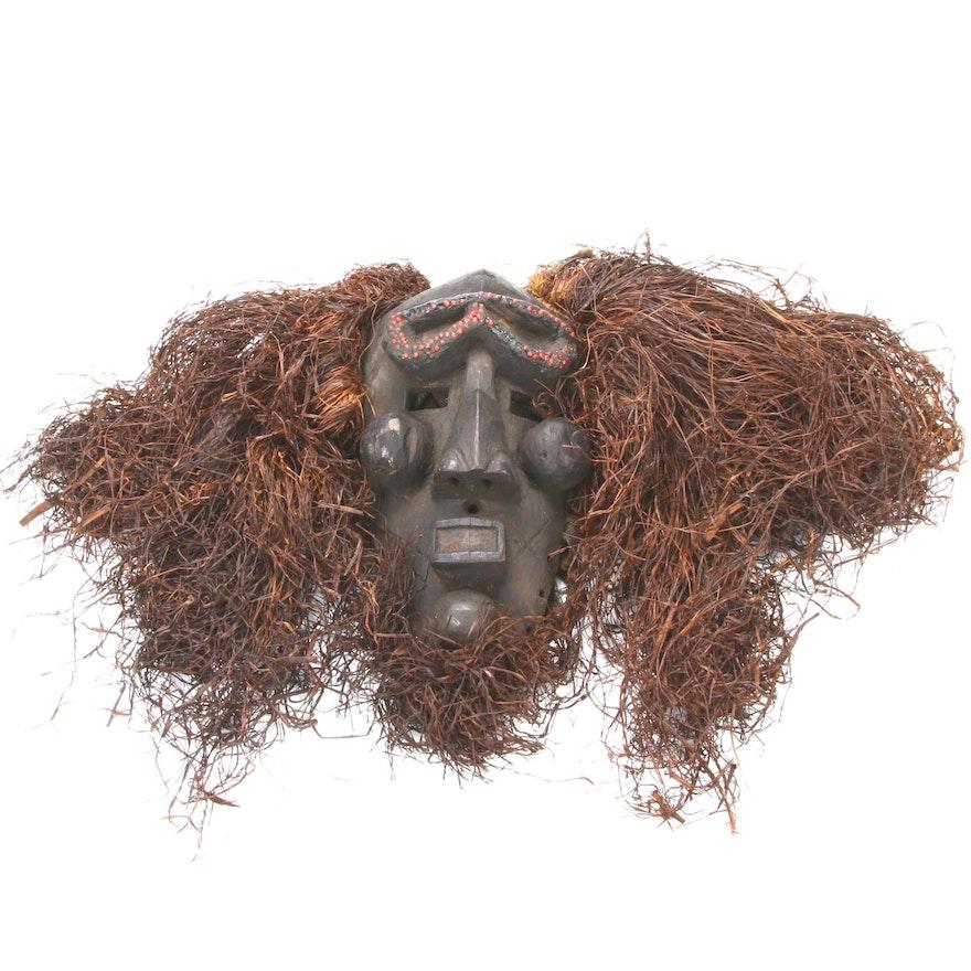 Central African Mask with Raffia, Benue-Niger River Region