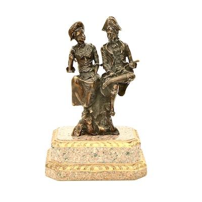 Theodore Alexander Figural Bronze Sculpture