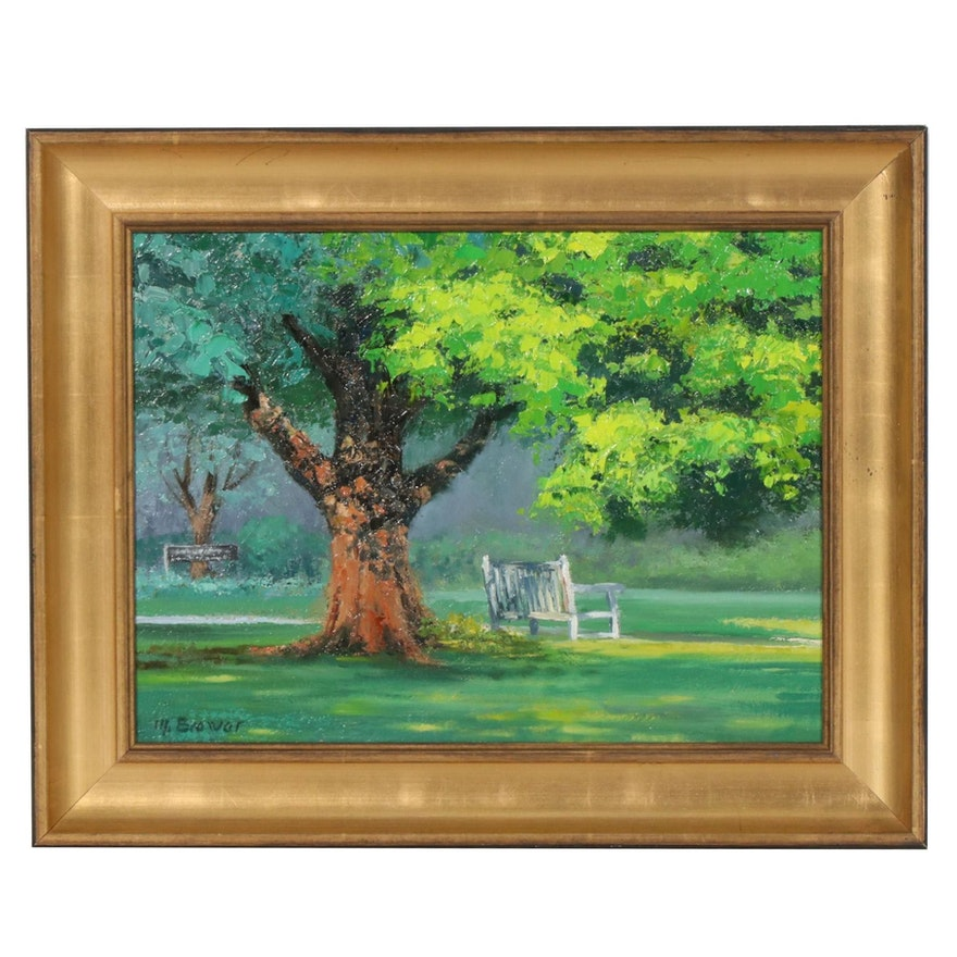"Marcus Brewer Impasto Oil Painting ""In the Shade"""