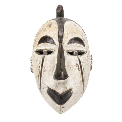 Idoma Style Carved-Wooden Mask, Central Africa