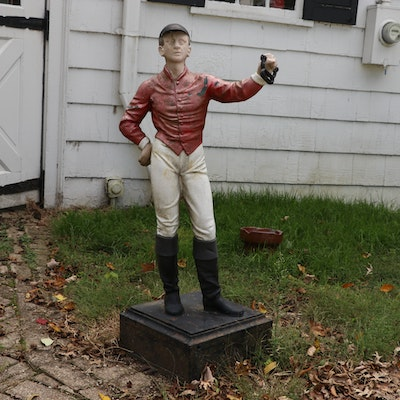 Cast Iron Lawn Jockey Statue, Early to Mid 20th Century