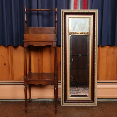 "Baker Furniture ""Historic Charleston"" Rack with Trumeau Style Mirror"