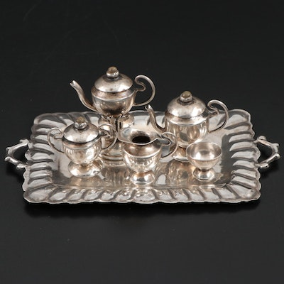 Sterling Silver Miniature Tea Service