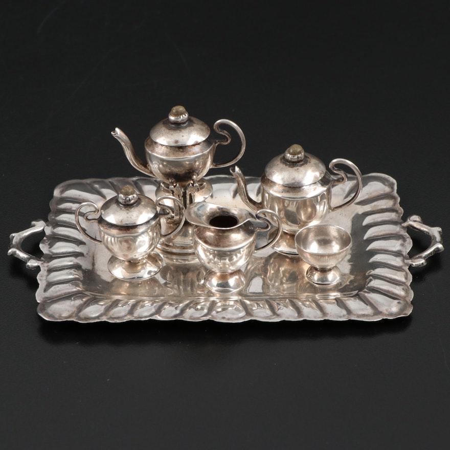 Sterling Silver Miniature Tea Service