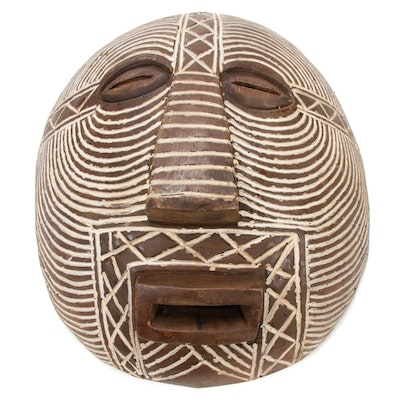 Luba Carved Wood Mask, Democratic Republic of the Congo