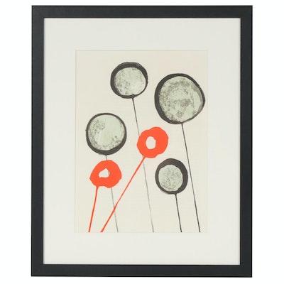 """Alexander Calder Color Lithograph for """"Derrière le Miroir"""", 1966"""