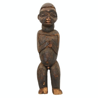 Central African Carved Wooden Figure, 20th Century
