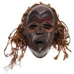 Chokwe Carved Wooden Mask, Central Africa