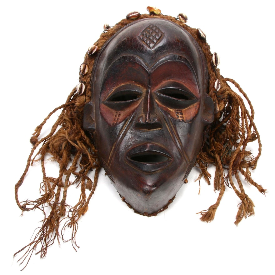 Chokwe Carved Wooden Mask, Central Africa