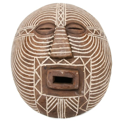 Luba Hand-Crafted Wood Mask, Central Africa
