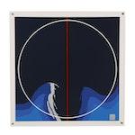 "Thomas W. Benton Abstract Serigraph ""Earth Series - Blue"", 1979"