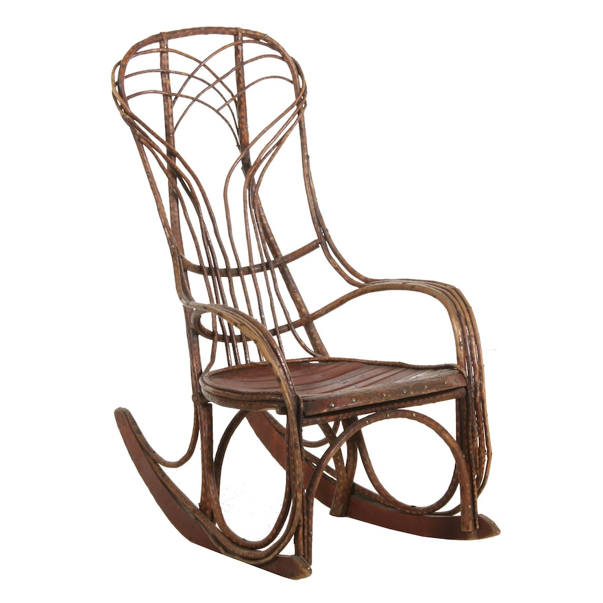 Bent Willow Rocking Chair, Late 19th/Early 20th Century
