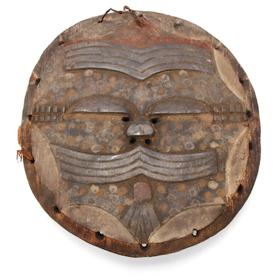 Teke Polychrome Flat Mask, Democratic Republic of the Congo