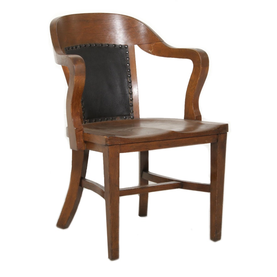 Globe-Wernicke Co. Oak Office Chair, Early 20th Century