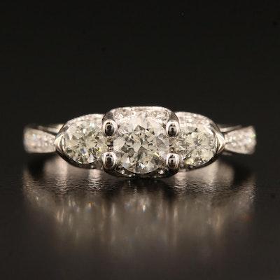 14K 1.02 CTW Diamond Ring