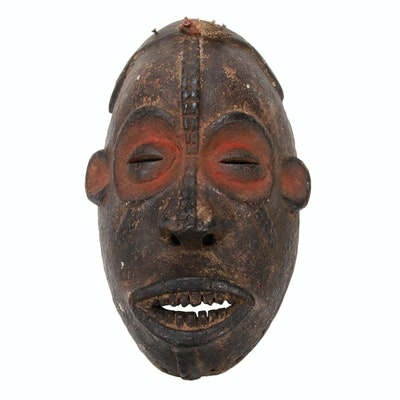 Central African Hand-Carved Wood Mask, Democratic Republic of the Congo