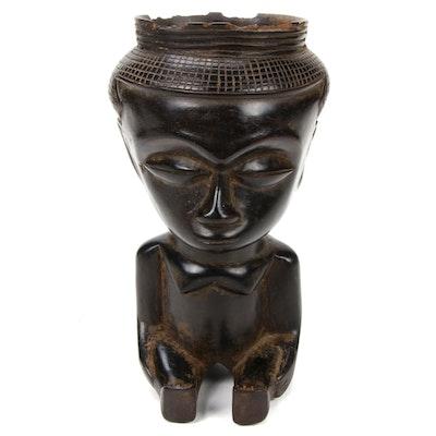 Kuba Style Figural Vessel, Democratic Republic of the Congo